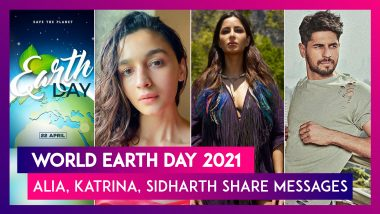 World Earth Day 2021: Alia Bhatt, Katrina Kaif, Sidharth Malhotra, Hema Malini, Neetu Kapoor & Others Express Their For Our Planet